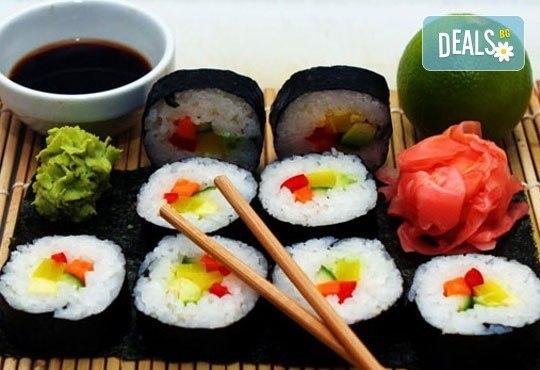 Вкусно и екзотично! Вземете суши сет Сьомга с 42 разнообразни хапки от Club Gramophone - Sushi Zone! - Снимка 2