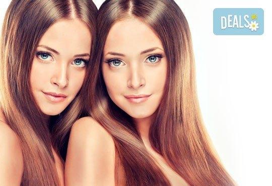 Освежете косата си без да отнемате от дължината й! Полиране на коса, измиване, маска и изправяне в салон Идиан! - Снимка 1