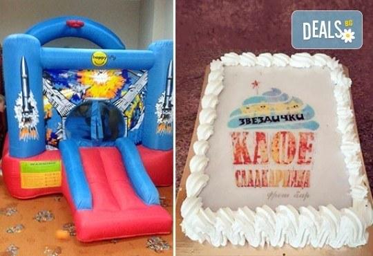 Два часа игри с детско парти за 10 деца! Голяма семейна пица за деца и възрастни, торта и сок в детски клуб Звездички! - Снимка 5