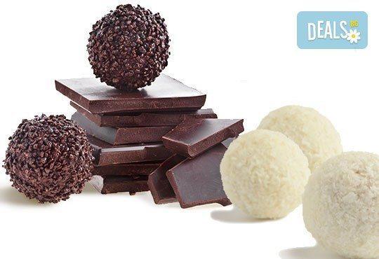 Един килограм домашни шоколадови топки с кокос или шоколад от Сладкарница Орхидея - Снимка 1