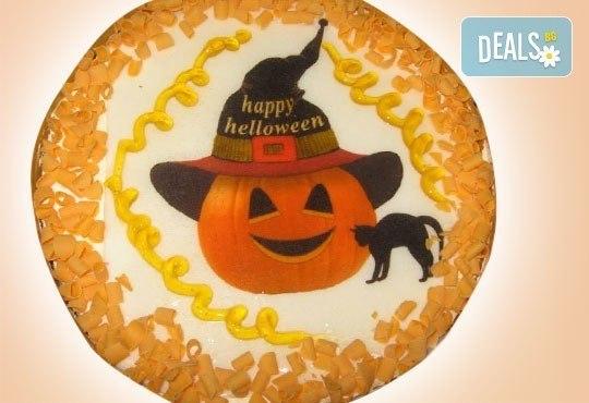 Торта за фирмени партита с бранд на фирмата от Сладкарница Орхидея - 14-16 парчета на промоционална цена - Снимка 9