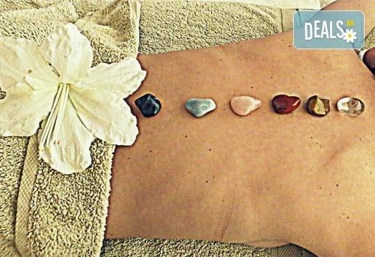 Еластична кожа и бистър тен с вълшебен 60-минутен масаж на тяло с полускъпоценни камъни в Wellness Place BEL! - Снимка 2