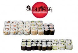 """Насладете се на 45 вегетариански суши хапки със сирене """"Philadelphia"""", манго, авокадо и японски сосове от Sushi King! - Снимка"""