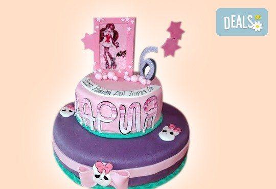 Страхотна фигурална торта за момичета: Замръзналото кралство, Монстар или Феята Дзън Дзън от Сладкарница Джорджо Джани - Снимка 6