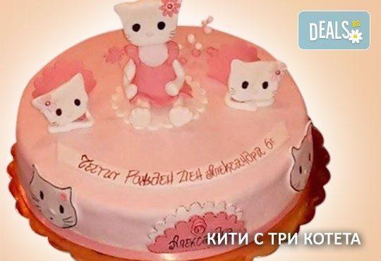 Красиви детски торти за момичета с принцеси и приказни феи + ръчно моделирана декорация от Сладкарница Джорджо Джани - Снимка 29