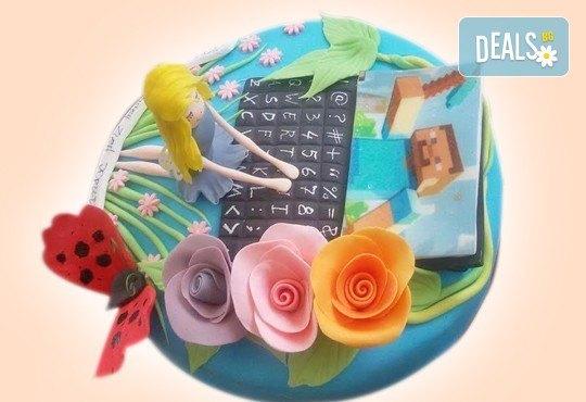 Красиви детски торти за момичета с принцеси и приказни феи + ръчно моделирана декорация от Сладкарница Джорджо Джани - Снимка 10