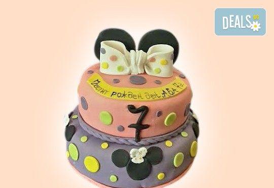 Красиви детски торти за момичета с принцеси и приказни феи + ръчно моделирана декорация от Сладкарница Джорджо Джани - Снимка 17