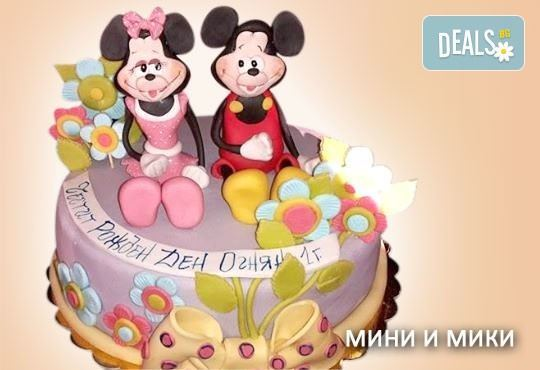 Красиви детски торти за момичета с принцеси и приказни феи + ръчно моделирана декорация от Сладкарница Джорджо Джани - Снимка 32