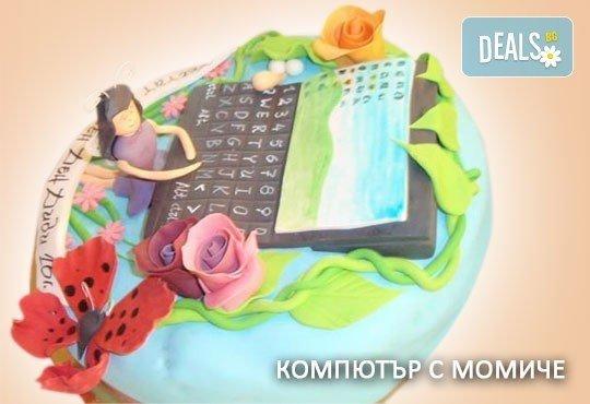 Красиви детски торти за момичета с принцеси и приказни феи + ръчно моделирана декорация от Сладкарница Джорджо Джани - Снимка 6