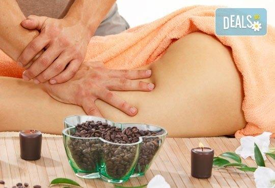 Поглезете кожата и сетивата си с пилинг масаж с кафе и дълбокотъканен масаж на цяло тяло в студио My Spa! - Снимка 1