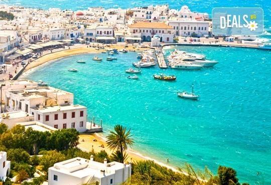Магична почивка на о. Миконос в Гърция през май или юни! 4 нощувки със закуски, транспорт и фериботни билети и такси! - Снимка 1