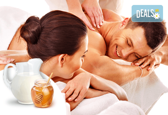 Романтика за двама! Вана на Клеопатра с мляко и синхронен релакс масаж за двама с мед и мляко в SPA център Senses Massage & Recreation - Снимка 1