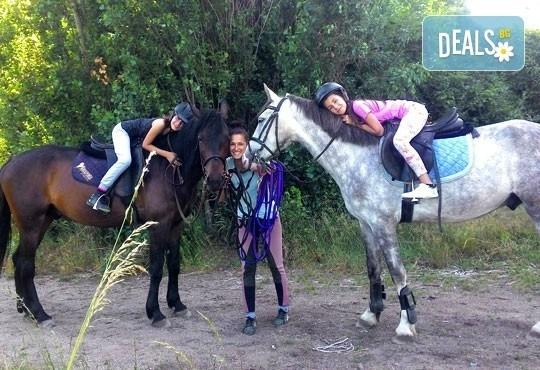 45-минутен урок по конна езда за начинаещи или за напреднали на манеж от Езда София в конна база Хан Аспарух! - Снимка 1