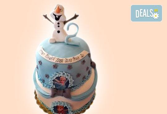 Тематична 3D торта Замръзналото кралство от 12 до 37 парчетата - кръгла, голяма правоъгълна или триизмерна кукла Елза от Сладкарница Джорджо Джани! - Снимка 2