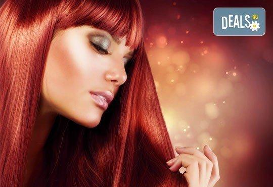 Боядисване с боя на клиента, масажно измиване, маска, подстригване или стилизант по избор и сешоар в салон Идиан! - Снимка 1