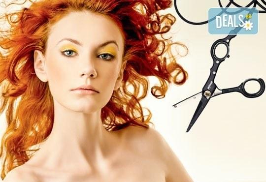 Подстригване с гореща ножица и по избор сешоар, боядисване или терапия в салон Женско Царство - Снимка 1