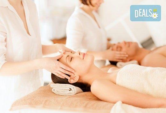 За влюбени! Луксозна терапия за двама: релаксиращ масаж за него и терапия за лице за нея в Senses Massage & Recreation - Снимка 1