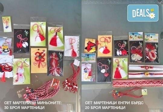 Бели и червени, румени, засмени! Голям пакет мартенички на супер цена от Работилница за мартеници - София! - Снимка 1