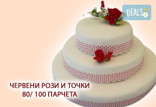 За Вашата сватба! Бутикова сватбена торта с АРТ декорация от Сладкарница Джорджо Джани - Снимка 5