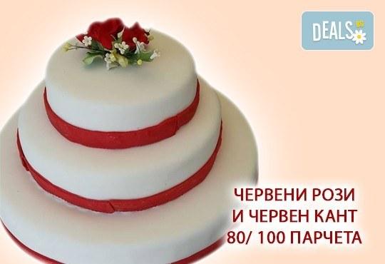 За Вашата сватба! Бутикова сватбена торта с АРТ декорация от Сладкарница Джорджо Джани - Снимка 11