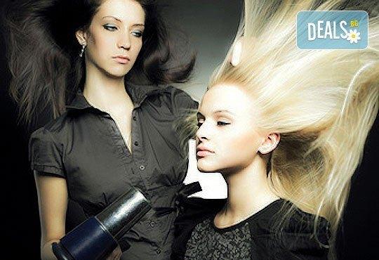 Нов цвят! Боядисване с професионална боя Young, подстригване и оформяне с прав сешоар в салон за красота Феерия! - Снимка 1