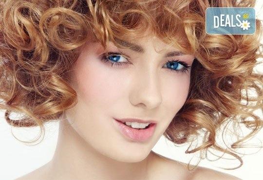 Масажно измиване, маска с италиански продукти на Nashi, оформяне на букли с или без подстригване от Royal Beauty Center - Снимка 1