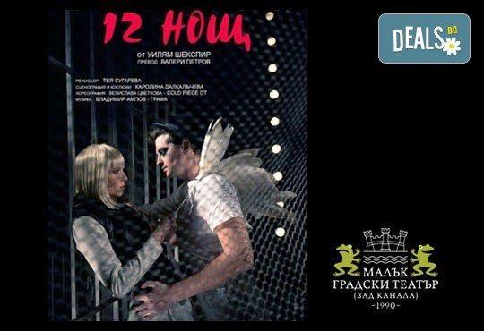 Празнувайте 8-ми март в театъра! Дванайсета нощ от Уилям Шекспир, музика: Графа, МГТ Зад канала - Снимка 1