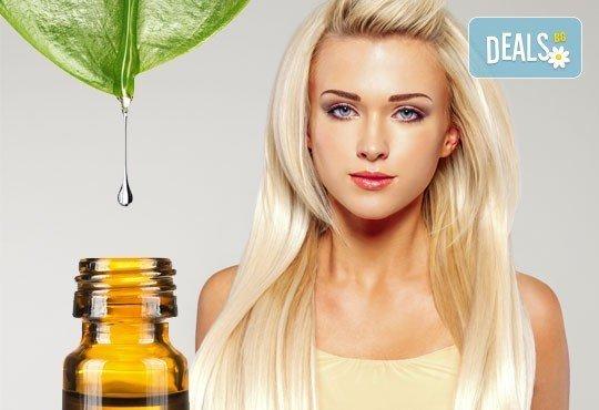 Терапия за коса с ботокс ефект, хиалурон, кератин или арган, инфраред преса и оформяне със сешоар в салон Мелинда! - Снимка 2