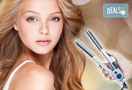 Терапия за коса с ботокс ефект, хиалурон, кератин или арган, инфраред преса и оформяне със сешоар в салон Мелинда! - Снимка 1
