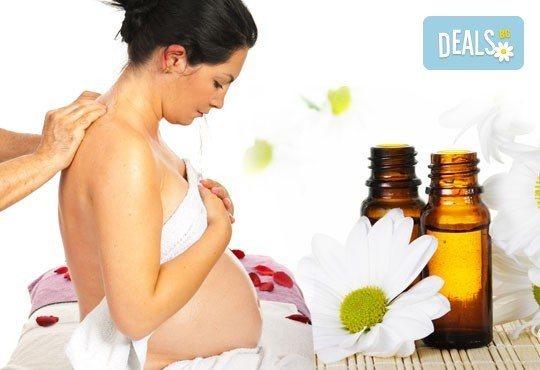 50-минутен релакс за бременни с био масла! Масаж на гръб, яка и крака от Wellness Center Ganesha Club! - Снимка 1