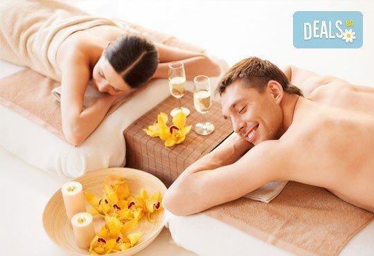 Божествен релакс! Синхронен масаж за двама на цяло тяло с етерични ароматни и билкови масла в новото масажно студио LUXOR & BEAUTY! - Снимка 1