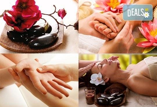 120-минутен SPA-MIX: Hot Stone терапия с вулканични камъни, рефлексо терапия, китайски масаж на лице, Green Health! - Снимка 1