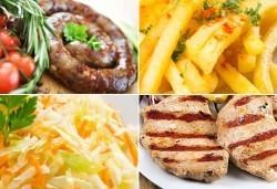 Апетитно в Balito! Две порции пресен телешки суджук на скара или свински каренца + гарнитура картофки и салата - Снимка