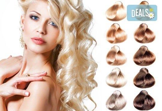 Боядисване на коса с Kristian of Roma, масажно измиване, маска на Лореал, сешоар по избор във Vip Diamonds Beauty Studio! - Снимка 1