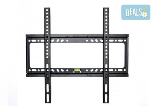 Неподвижна стенна стойка за монитор или телевизор, 26 - 52, до 45 кг от Gift Express! - Снимка 1