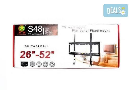 Неподвижна стенна стойка за монитор или телевизор, 26 - 52, до 45 кг от Gift Express! - Снимка 2