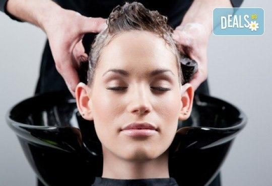 Масажно измиване на коса, маска на Лореал и оформяне на прическа със сешоар по избор във Vip Diamonds Beauty Studio! - Снимка 1