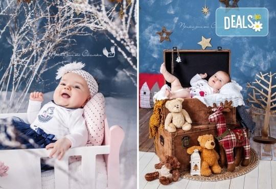 Бебешка и семейна фотосесия в студио с 12 обработени кадъра от Приказните снимки! - Снимка 7