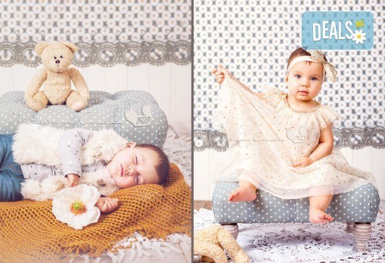 Бебешка и семейна фотосесия в студио с 12 обработени кадъра от Приказните снимки! - Снимка 8