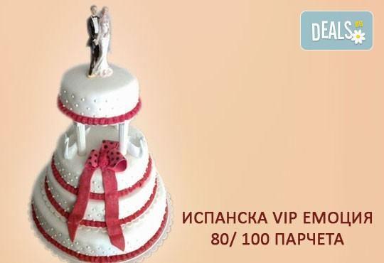 Сватбена VIP торта 80, 100 или 160 парчета по дизайн на Сладкарница Джорджо Джани - Снимка 1