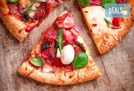 Вечеря за ДВАМА в италиански стил: ДВЕ пици (голяма и малка) от Ресторанти Златна круша - Снимка 2