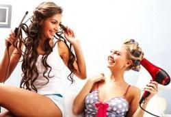 Френски букли + арганова терапия за коса в WAVE STUDIO - НДК