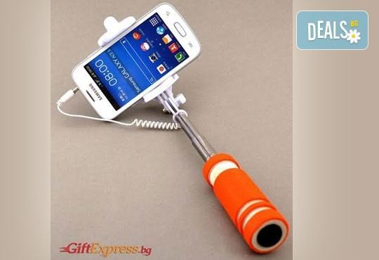 Необходимият аксесоар за Вашите снимки! Монопод за смартфони, фотоапарати и GoPro камери за селфита от Gift Express! - Снимка 1