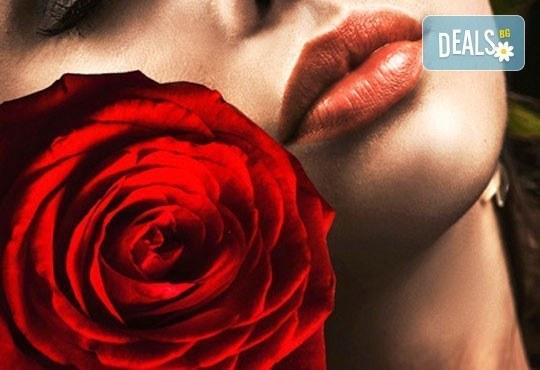 Уголемяване на устни с безиглена терапия, подчертаване на контура с професионални продукти, 1 или 4 процедури, студио Be Happy! - Снимка 1