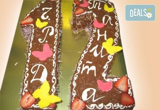 Шоколадови празници с торта Шоколадови цифри и букви от Сладкарница Орхидея - Снимка 4