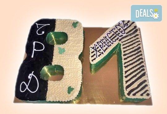 Шоколадови празници с торта Шоколадови цифри и букви от Сладкарница Орхидея - Снимка 5