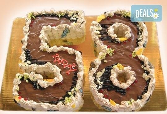 Шоколадови празници с торта Шоколадови цифри и букви от Сладкарница Орхидея - Снимка 1