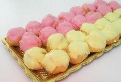 50 броя плодови еклери с крем и плодов шоколад от Сладкарница