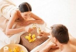 Синхронен масаж за двама на цяло тяло с етерични и билкови масла в LUXOR & BEAUTY