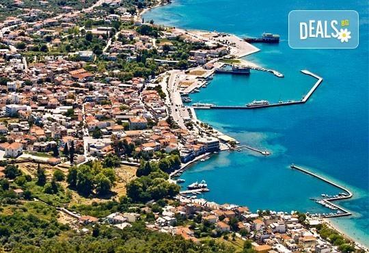 Екскурзия през май и юни на остров Тасос в Гърция! 2 нощувки със закуски, транспорт, панорамна обиколка на Кавала! - Снимка 1
